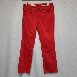 Pilcro and the Letterpress Red Script Jeans 26